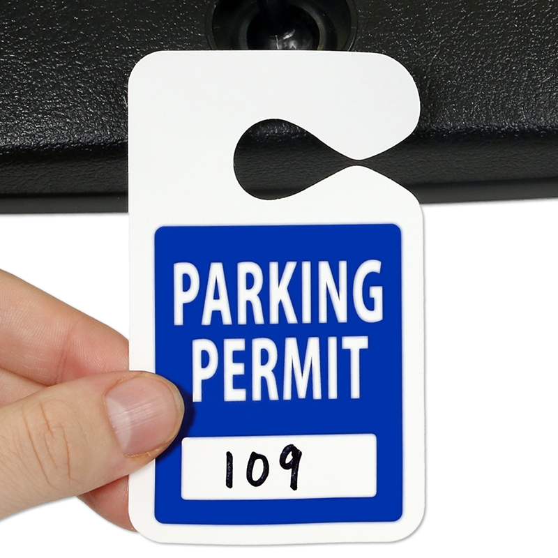 "Rear View Mirror Tags for School Parking, 2-3/4""W x 4-3/4 ...