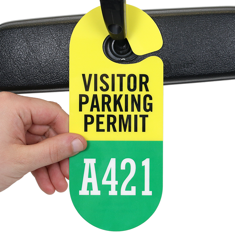 Parking Permit Hang Tag And Parking Sticker Styles Of ...