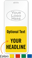 Custom Classroom Hall Passes with Logo