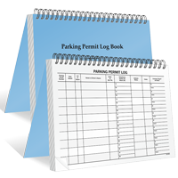 Large Parking Permit Log Book