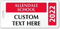 Custom School Student Pass Backpack Tags