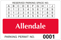 Parking Labels - Design LT14