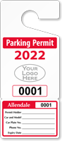 Custom Parking Permit Hang Tag