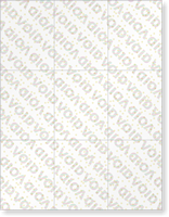 ForgeGuard Blank Parking Permit Security Paper Inserts - 9/Sheet