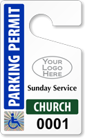 Plastic ToughTags™ for Church Parking Permits