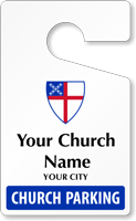 Personalized Church Parking Permit Standard Size