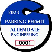 Create Own Circle Parking Permit Hang Tag