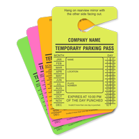 Custom 2-Sided Temporary Parking Permit Hang Tag