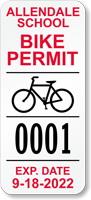 Custom School Bike Permit Decals