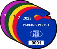 Custom Circle Parking Permit Hang Tag