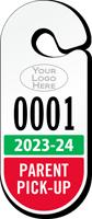 Custom Parent Pick-up Racetrack Permit Hanging Tag