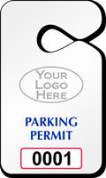 Create Pre-Printed Numbered Logo Parking Permit Hang Tag