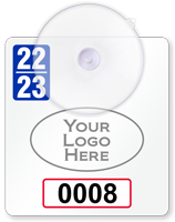 Custom Mini Suction Cup Parking Permits with Logo