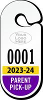 Custom Large Parent Pickup Racetrack Permit Hang Tag