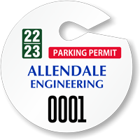 Design Own Circular Parking Permit Hang Tag