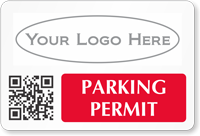 Custom Parking Permit Decal With Logo