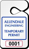 Custom Pre-Printed Numbered Parking Permit Hang Tag