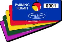 Custom Plastic Horizontal Parking Permit Hang Tag
