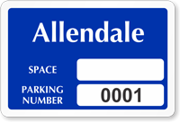 Custom Reserved Parking Space Permit Decal