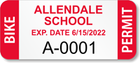 Custom School Bike Permit Decals with Expiry Date