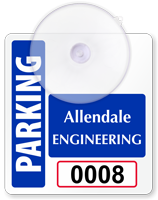 Design Own Mini Parking Permit with Suction Cup