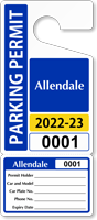 Custom Parking Permit Template