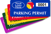 Customizable Plastic Horizontal Parking Permit Hang Tag