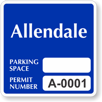 Customizable Reserved Parking Space Permit Decal