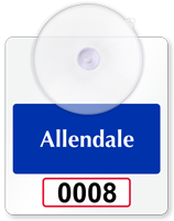 Customizable Suction-Cup Mini Numbered Parking Permits for Windshield