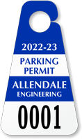 Create Own Triangle Parking Permit Hang Tag