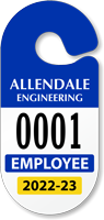 Design Own Racetrack Parking Permit Hang Tag