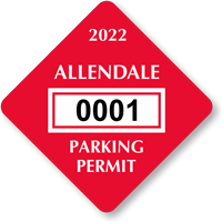 Diamond Windshield Parking Decals 1¾ in.