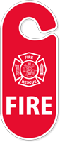 Fire Rescue Parking Permit Hang Tag