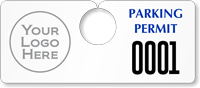 Plastic ToughTags™ Parking Permit Horizontal Template