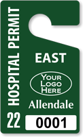 Plastic ToughTags™ for Hospital Parking Permits