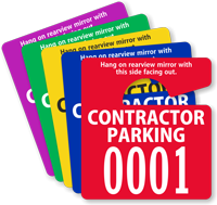 Custom Contractor Parking Mini Hang Tag