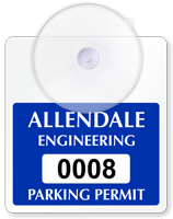 Create Own Mini Parking Permits with Suction Cup