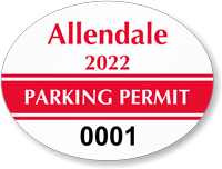 Oval Windshield Parking Decals