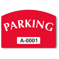 Parking Arch Shaped Sticker