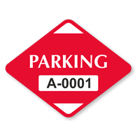 Parking Diamond Shaped Sticker