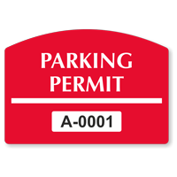Parking Permit Arch Shaped Sticker
