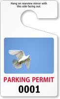 Parking Permit Standard Rearview Mirror PhotoTag