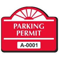 Parking Permit Round Arch Shaped Sticker