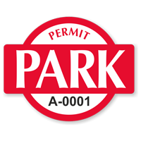 Permit Park Banner Shaped Sticker