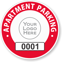 Apartment Window Decal 1.5 in. x 1.75 in.
