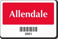 Rectangular Barcode Parking Label