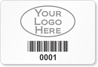 Parking Label With Barcodes
