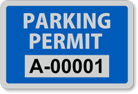 Parking Permit for Outside of Car Window