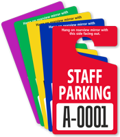 Custom Staff Parking Standard Hang Tag