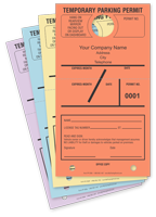 Large Parking Permit Hang Cardstock Tag